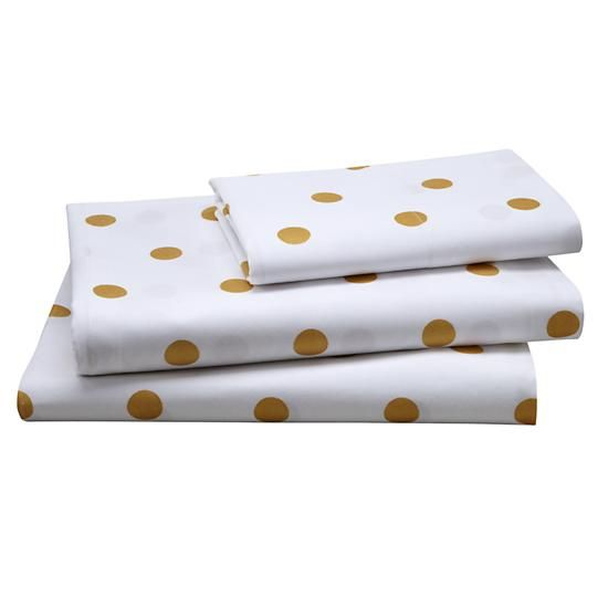 Gold Dot Sheet Set (Twin) in Kids Sheets | The Land of Nod
