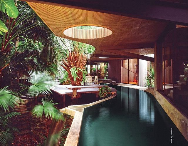 The Woodsong residence designed by Alfred Browning Parker in the 1970s.  Photo by Bo Parker