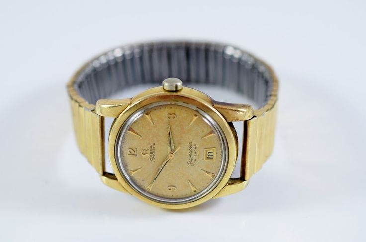 Vintage OMEGA Automatic Seamaster Calendar Gold Watch, Rolled Gold Band, Swiss  #OMEGA #Casual