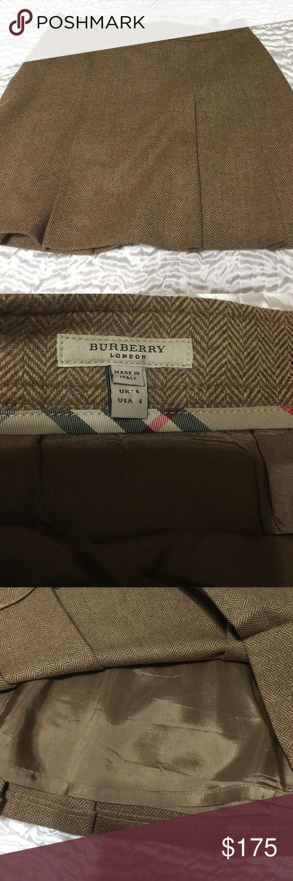 Tan Burberry skirt Mint condition tan Burberry skirt Burberry Skirts Mini