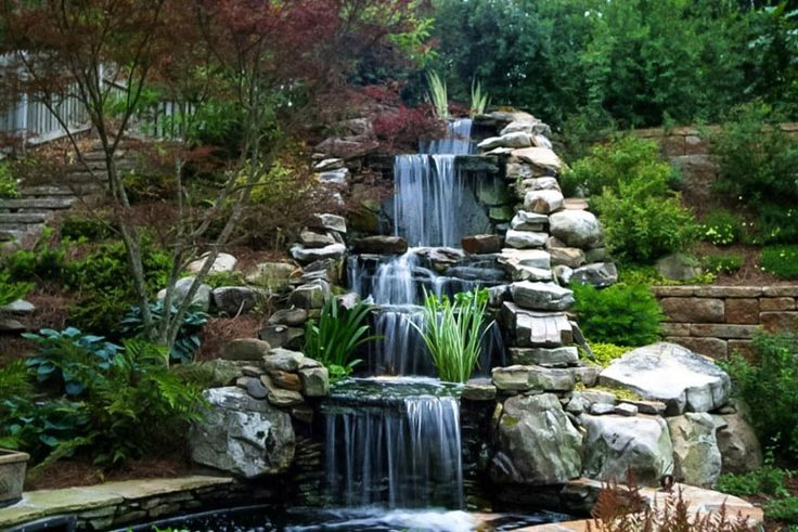 Animate your Landscape with Waterfalls, Koi Ponds, Aquatic Gardens | http://www.designrulz.com/design/2014/09/animate-landscape-waterfalls-koi-ponds-aquatic-gardens/