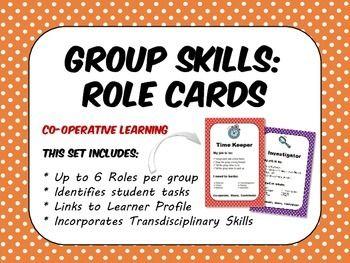 PYP IB Group Skills Role Cards  - TpT (teaching resource, IBO curriculum)  #teaching #groupwork #teacherspayteachers #tpt #ibo