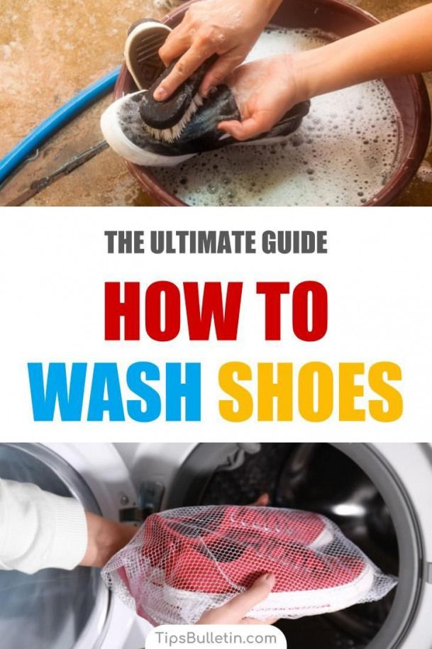 Find Out How To Wash Shoes In The Washer And By Hand Learn How To Remove Stains Using Baking Soda And Clean Cleaning Hacks How To Wash Shoes Clean Dishwasher