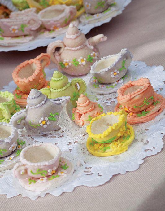 Minibules e minixícaras de marzipã / DIY, Food