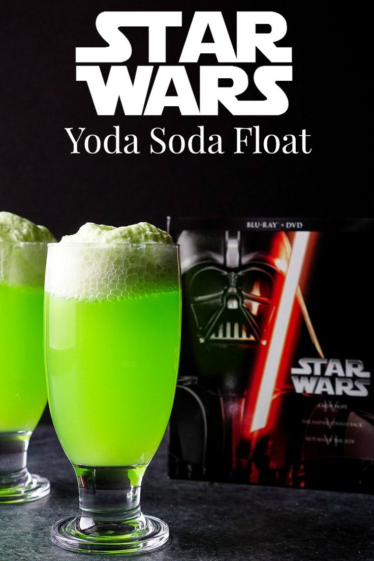 These Yoda Soda Floats are a simple and fun addition to any Star Wars themed party or movie night!