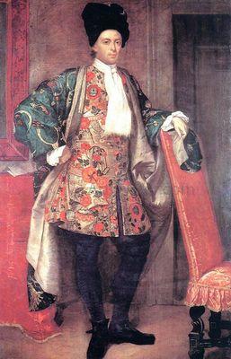 Portrait of Count Giovanni Battista Vailetti by Giuseppe Vittore Fra Galgario Ghislandi