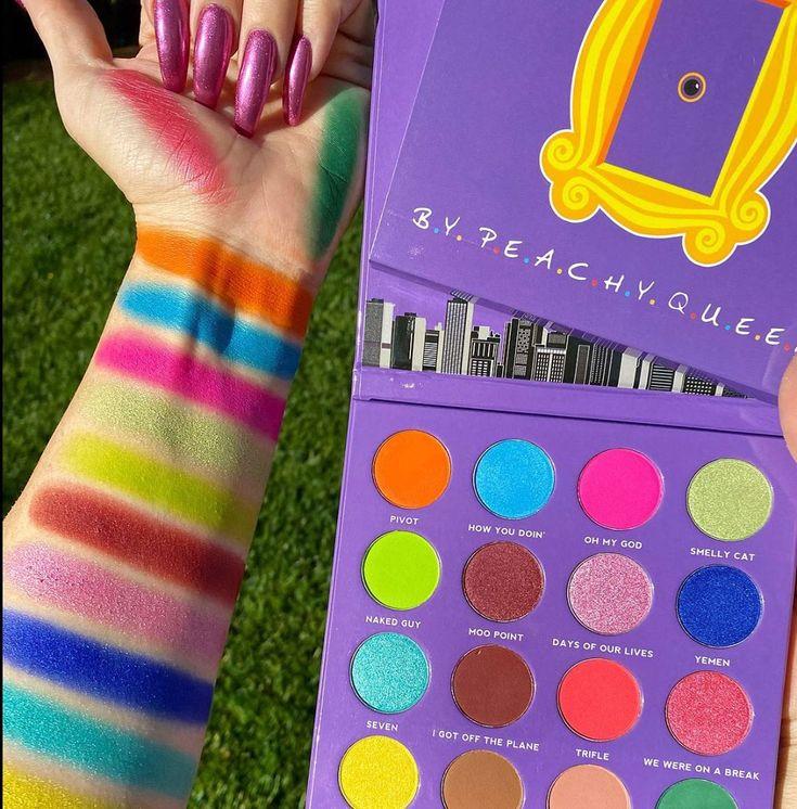 Peachy Queen Friends Inspired Palette. Purple eyeshadow
