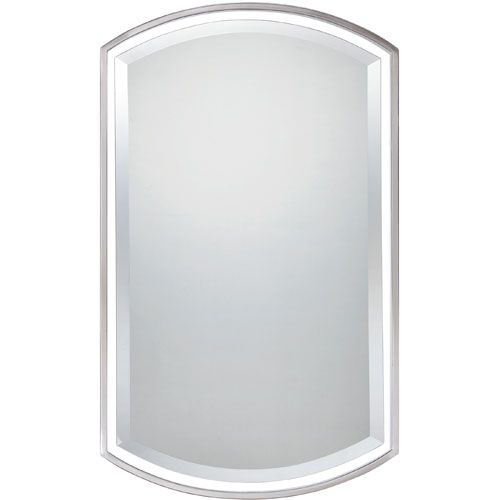 Brushed Nickel Mirror Quoizel Rectangle Mirrors Home Decor 35x21 $219