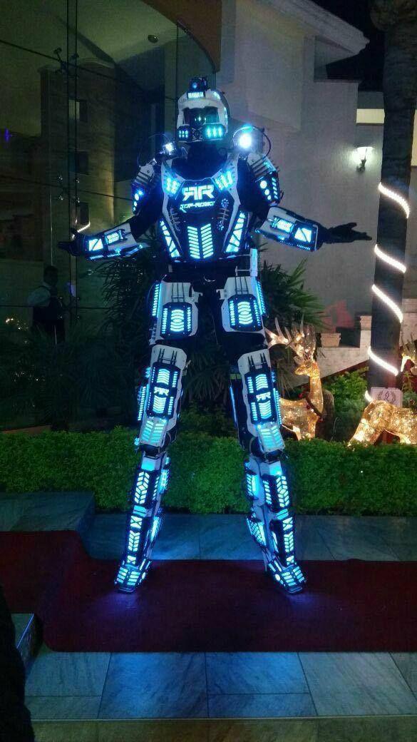 Mega Led Robot Costume Robots Suit Dj Traje Party Show Glow Suits