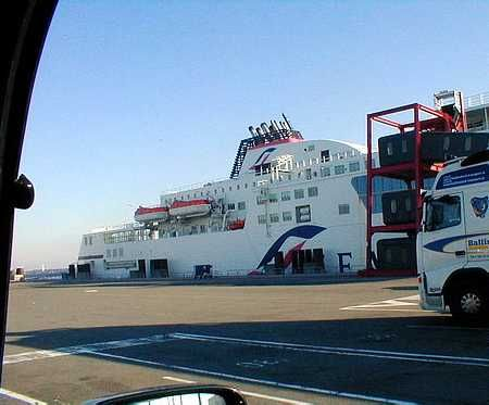 Ferry to Calais, France from Dover England