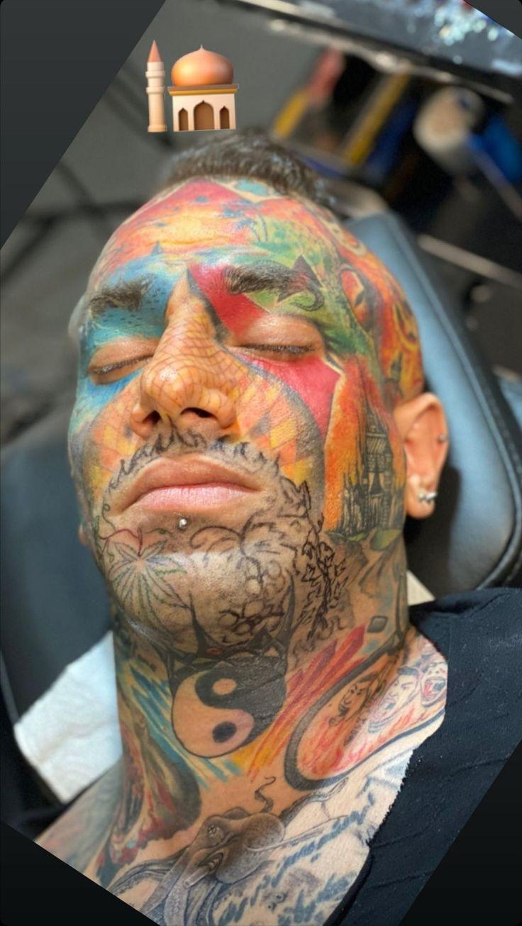 Amir tataloo. Iranian Singer in 2020 Face tattoos, Rock