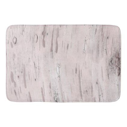 White Birch Tree Wood Rustic Barn Farmhouse Chic Bath Mat - rustic gifts ideas customize personalize