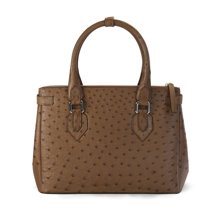 genuine ostrich leather handbag - Via La Moda