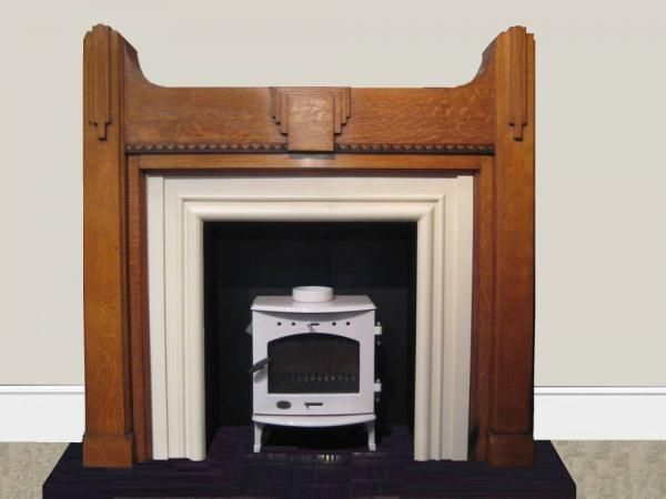 1930s oak surround