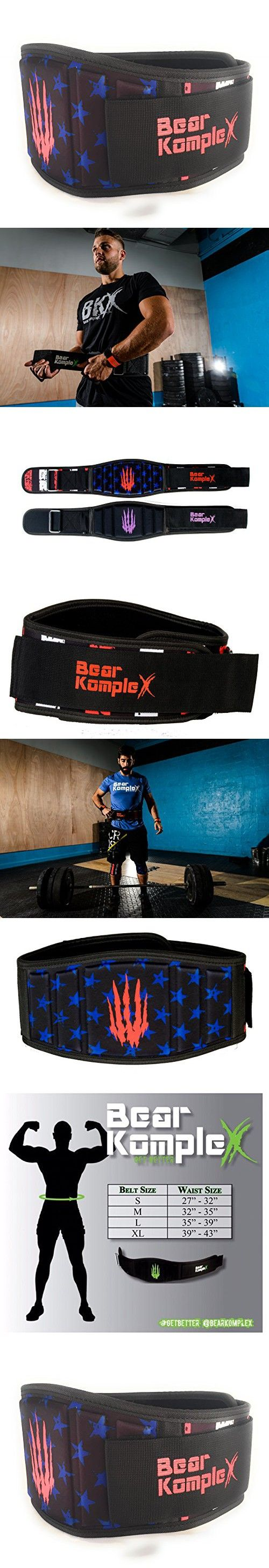 Bear KompleX Weighlifting belt for Powerlifting, Crossfit, Squats, Weight Training and more. Low profile velcro with super firm back for maximum stability and exceptional comfort. STARS LRG belt
