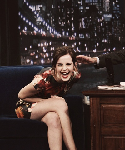 Emma Watson on Late Night with Jimmy Fallon #laughingoutloud #realemotion #EmmaWatson
