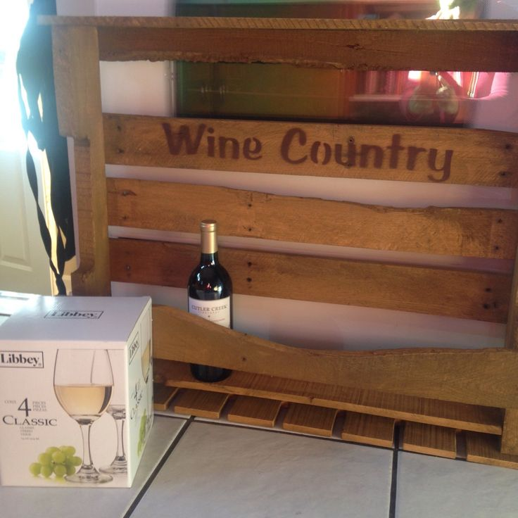 """One of our wine rack recently sold at a silent auction, and it was very popular! We will be selling this """"wine country"""" wine rack soon!"""