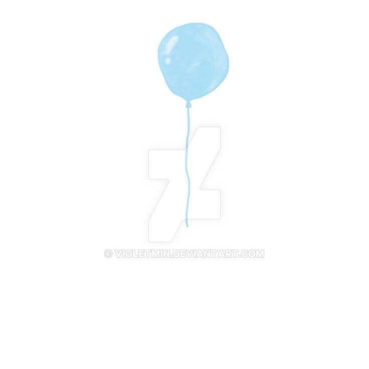 Illustration:  blue balloon by violetmin.deviantart.com on @DeviantArt