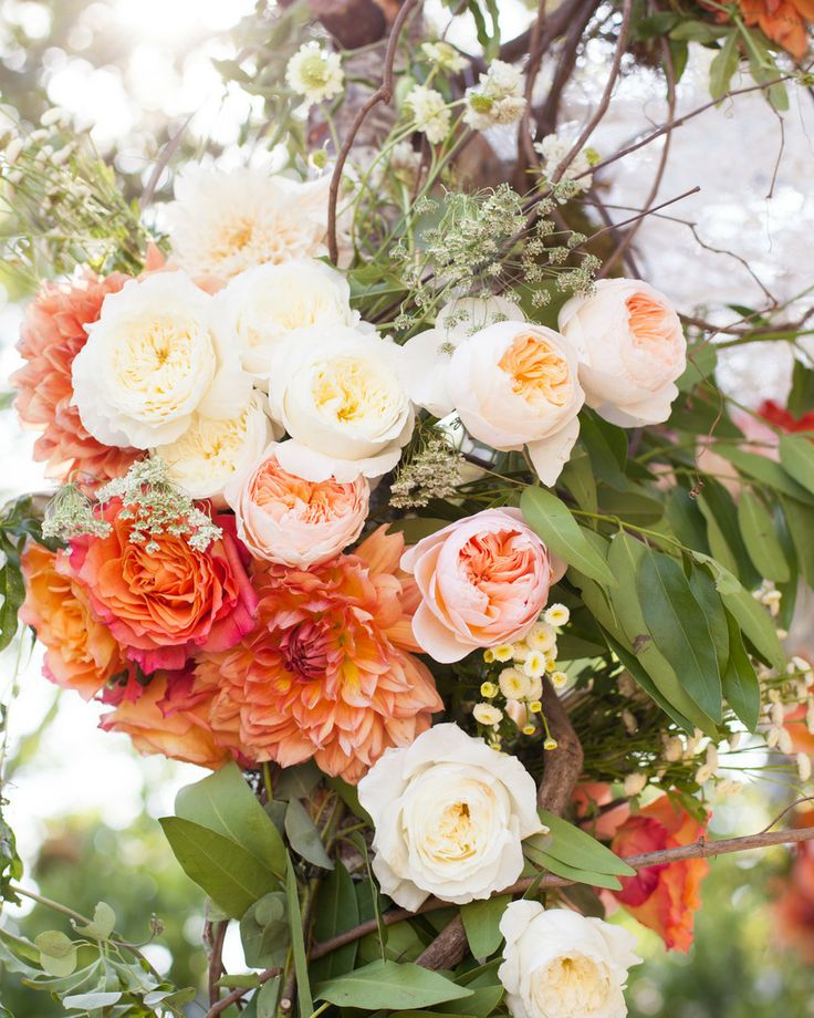 Gorgeous blooms | Los Angeles Wedding from JOWY Productions  Read more - http://www.stylemepretty.com/california-weddings/2013/11/01/los-angeles-wedding-from-jowy-productions/: Ranch Wedding, Gorgeous Cakes, Wedding Bouquets, Jowi Products, The Angel, Fall Weddings, Chuppah Flowers, Style Me Pretty, California Wedding