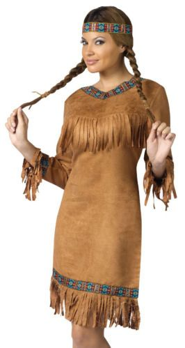 Adult Indian Pocahontas Girl Halloween Costume M L | eBay