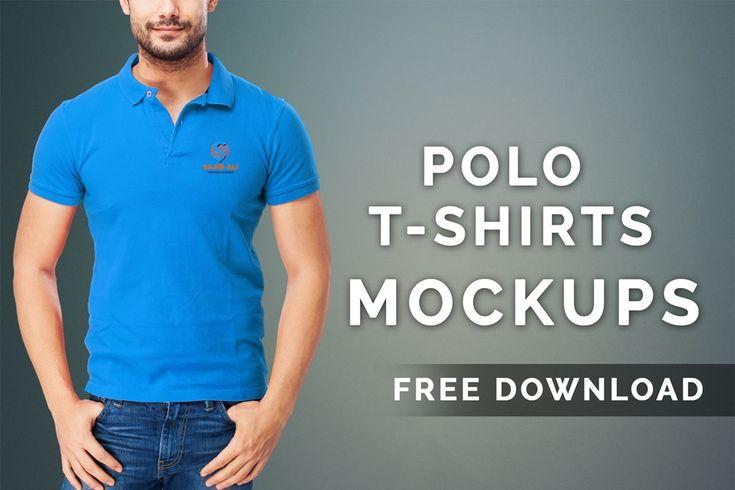 Free Polo T Shirts Mockups Psd Tshirt Mockup Shirt Mockup Polo T Shirts