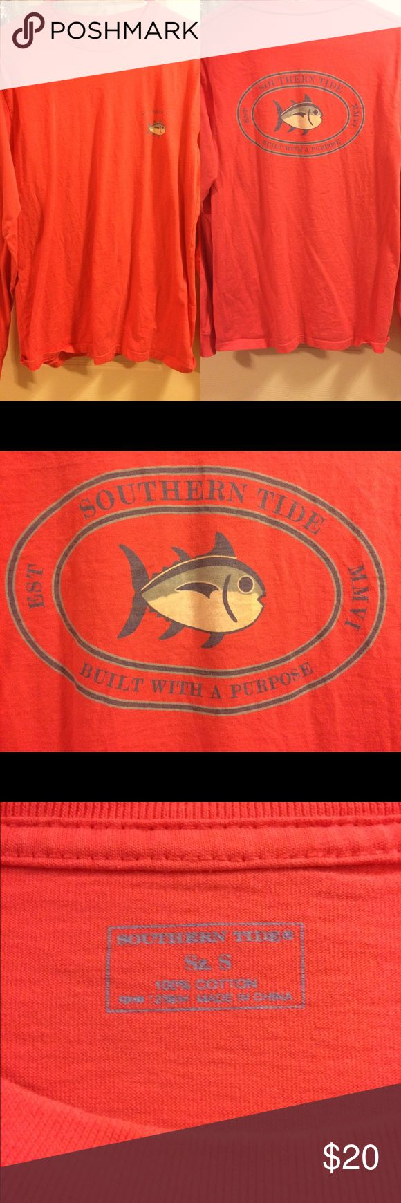 Southern Tide long sleeve coral shirt Worn a few times but just like new!! Smoke free home. Open to reasonable offers Southern Tide Shirts Tees - Long Sleeve