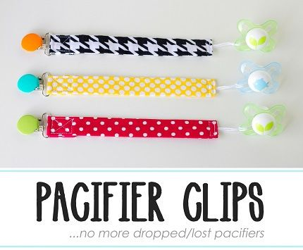 pacifier clips  http://sewing.craftgossip.com/tutorial-how-to-make-pacifier-clips/2014/08/03/