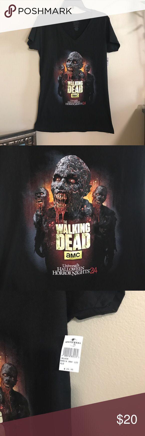 NWT The Walking Dead Tee!! Universal horror nights!!! Universal Studios Tops Tees - Short Sleeve