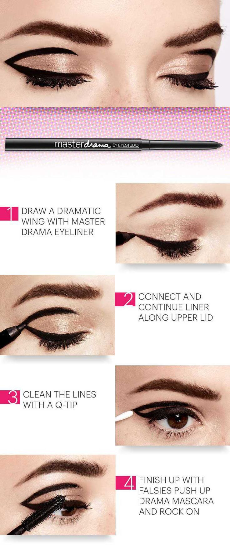 Step By Step Tutorial To Get Vintage Eye Makeup From The 60's