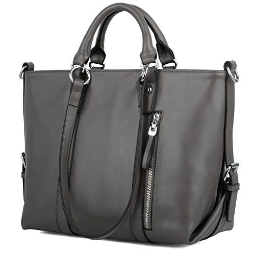 YALUXE Women's Urban Style 3-Way Leather Work Tote Should...…