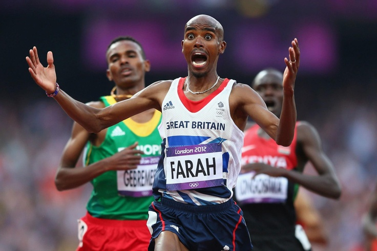 This guy is just a true legend and a work of a miracle. Mo Farah - Double Olympic Champion and Team GB legend