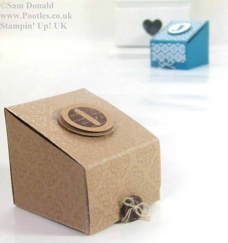Pootles Stampin Up UK Sloping Sided Gift Treat Box 2