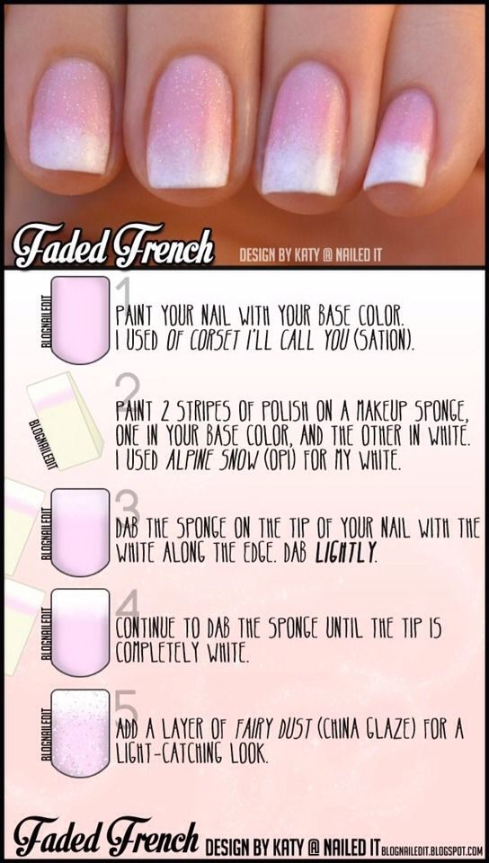 Faded French Tip Tutorial!