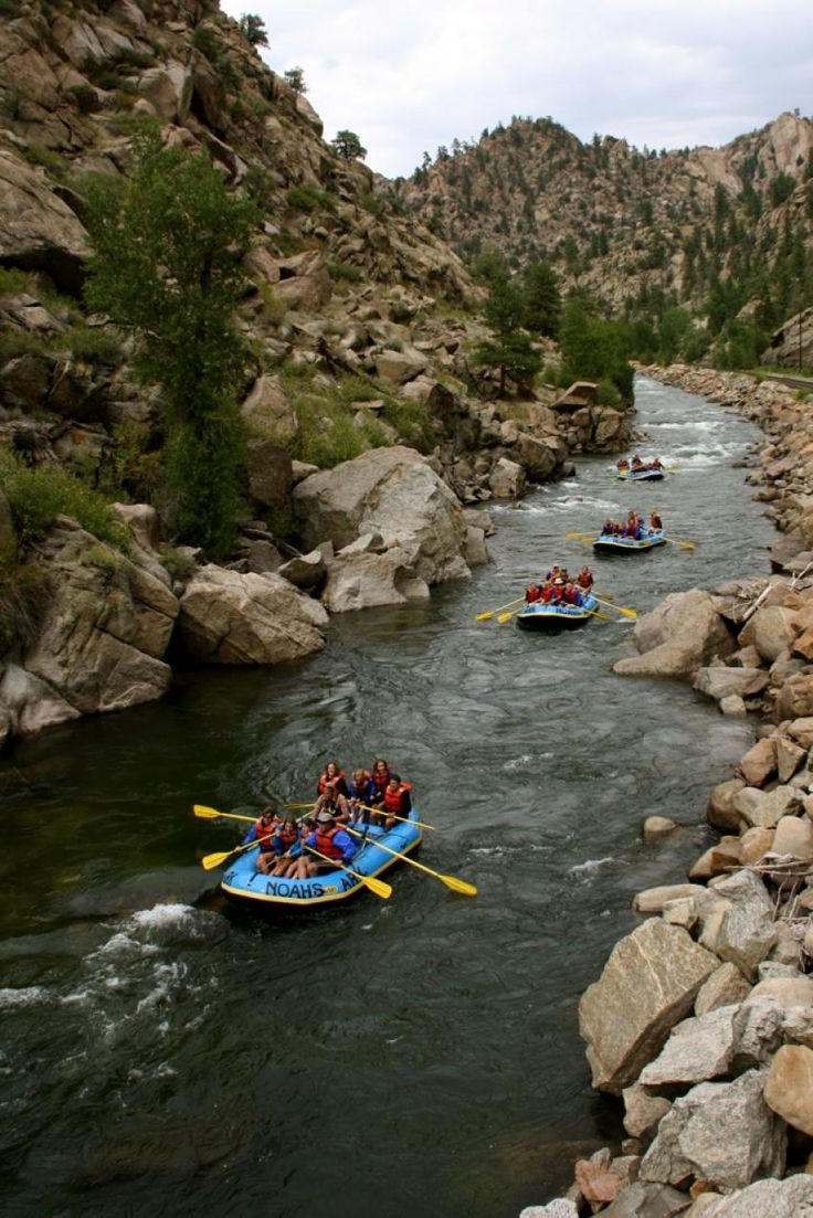 White water rafting in Colorados Browns Canyon on the Arkansas River, with Noahs Ark
