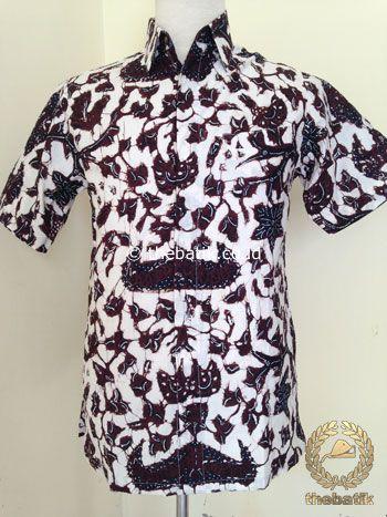 Kemeja Batik Tulis Pendek Wahyu Tumurun Putih | #Indonesia Unique  #Batik Tops Shirt #Clothing Men Women http://thebatik.co.id/baju-batik/