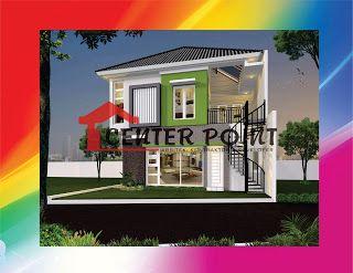 jasa gambar rumah di bontang rumah minimalis modern dua