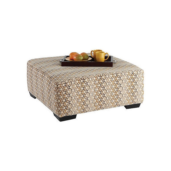 Adrian Cocktail Ottoman :: Rooms To Go   Cocktail Ottomans ($250) ❤ Liked