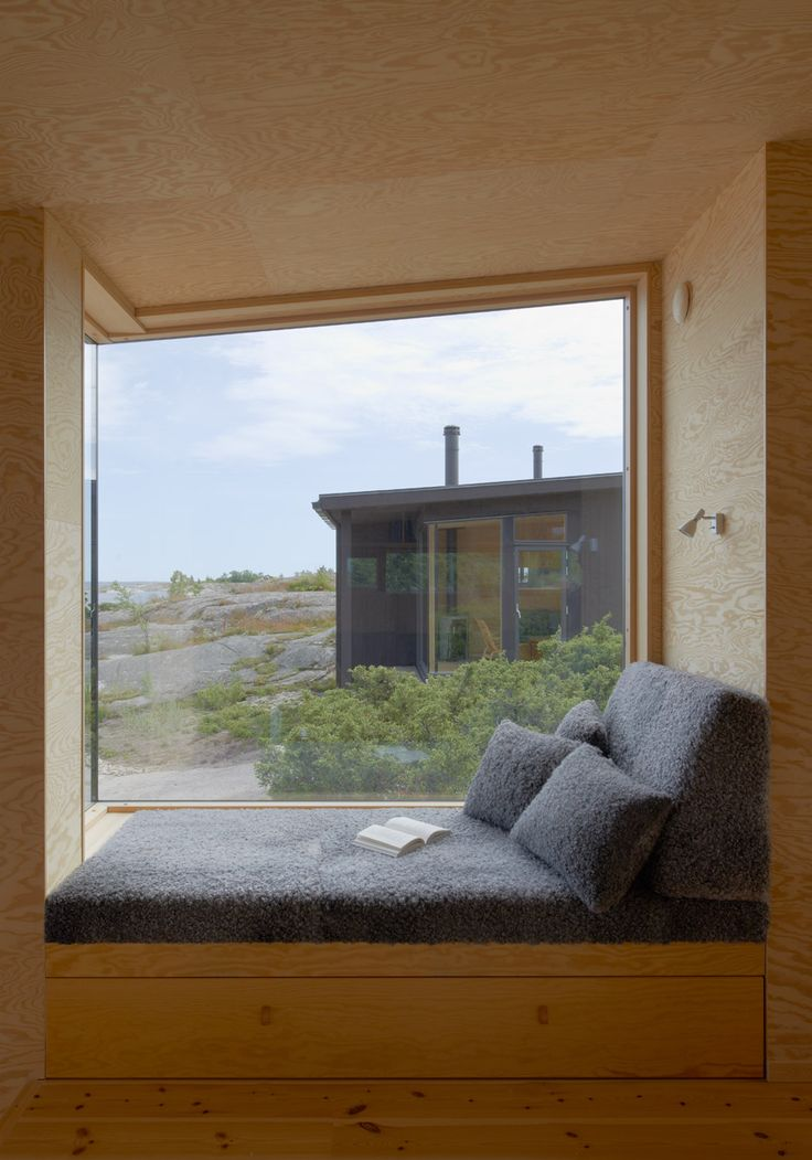 Small Cabins - Margen Wigow Arkitektkontor - Stockholm Archipelago - Reading Nook - Humble Homes