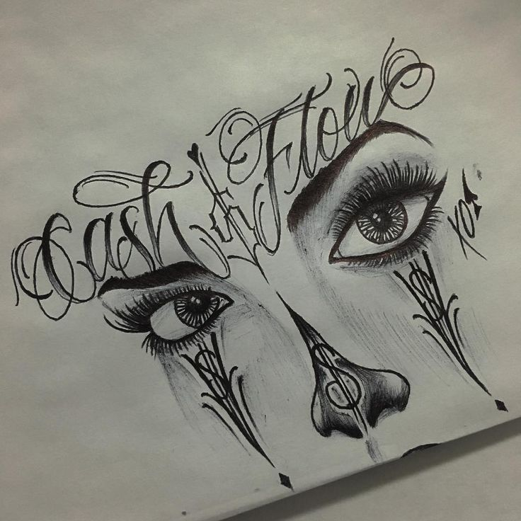 "34 Likes, 5 Comments - Ray Robles (@sonicrayzar_cs2) on Instagram: ""#cashflow #girlclown #chicana #payasa #lettering #letters #letras #letterhead #lettermangroup…"""