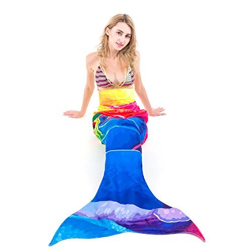 Bathroom Scale Décor | Summer Beach Towel Mermaid Tail Blanket For Adults Super Soft Colorful Bright Swimwear Cover Up Sleeping Bags ** Check out this great product. Note:It is Affiliate Link to Amazon.