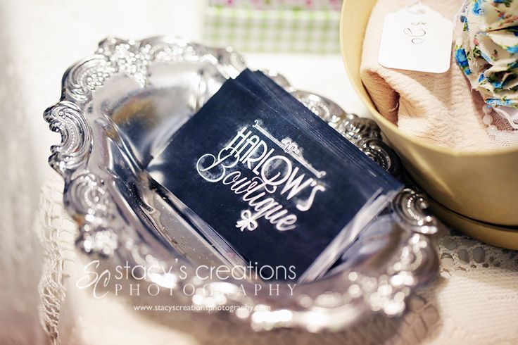 Logo/Business Card Design for Harlow's Bowtique :: Photo credit: Stacy's Creations Photography :: Niagara Vendor Love