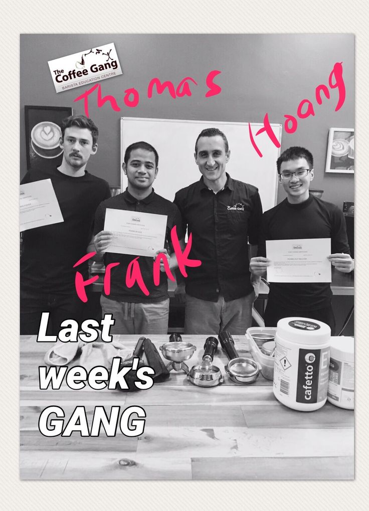 """My big thanks to Thomas, Frank and Hoang for completing the 5 days coffee course last week. They're on their way to becoming the next great batch of baristas   They are definitely part of the GANG. """"Are you part of the gang yet?"""" #thecoffeegang #thecoffeeganginkl #thecoffeeganginhk #thecoffeeganginfiji #trubarista #coffeecourse #barista #training #school #5dayscourse #baristaschool #coffee"""