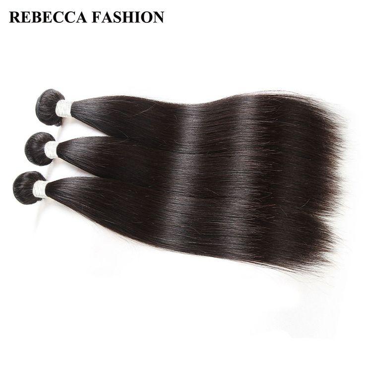 Rebecca Malaysian Straight Hair 3 Bundles Remy Hair Weave 8 to 30 inch unprocessed Human Hair Extension Salon Bundle Hair Deal