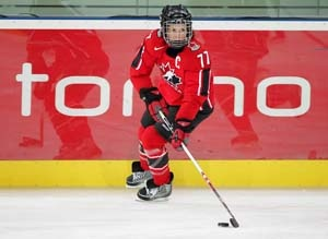 Cassie Campbell (BA '97) is an Olympic hockey player.    During her time at U of G, Cassie represented the Hockey Gryphons from 1992-1996.  She was named to the OWIAA Second All-Star Team in 1992-93, and to the 1st All-Star Team in 1996. In 1996, Cassie was awarded the University of Guelph's W.F. Mitchell award, which is presented to a graduating student who has demonstrated outstanding talent and ability in a sport, as well as exceptional leadership and involvement in athletics.