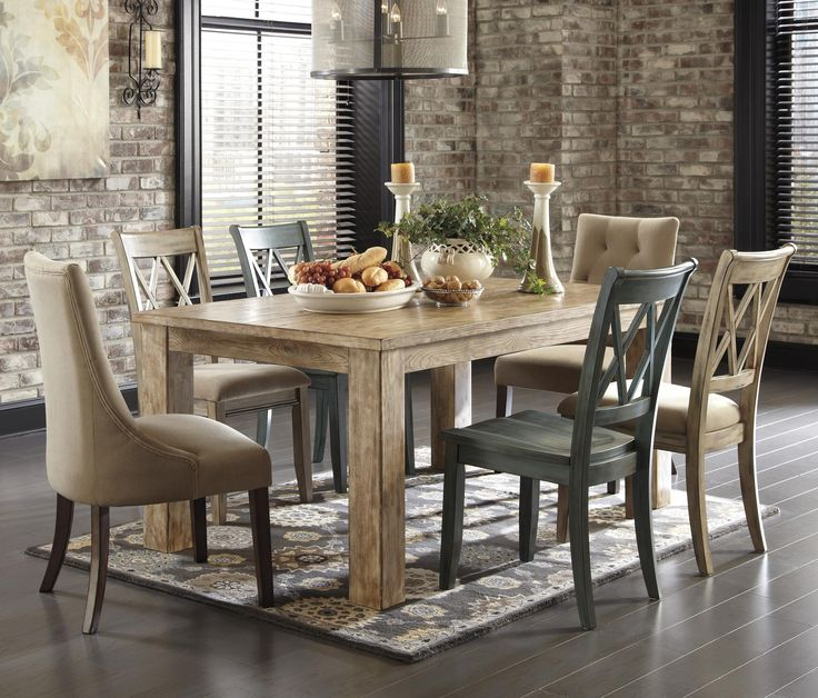 Jlester407 This One This Is It Mestler 7 Piece Table Set By Signature Design By Ashley