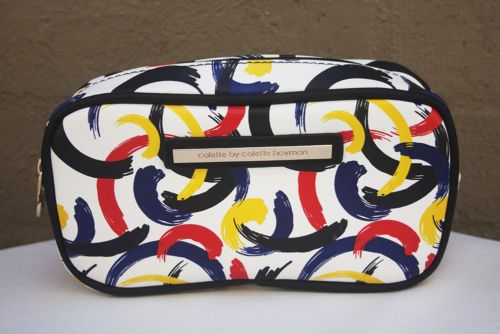 NEW-COLETTE-HAYMAN-Multi-Colour-Clutch-Make-Up-Bag-White-Black-Blue-Red-Yellow