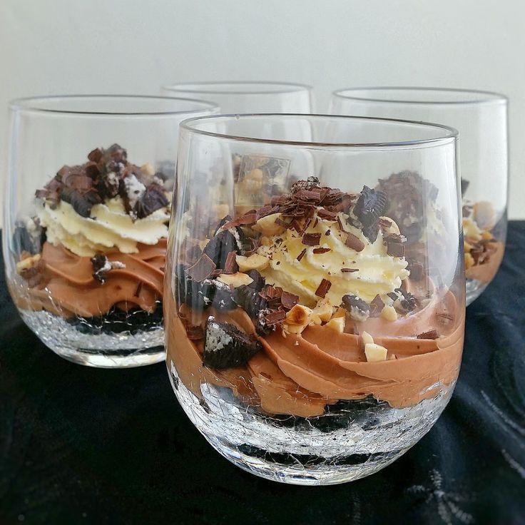 Nutella cheesecake i glas