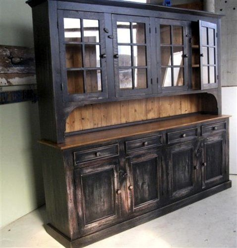 rustic buffet hutch | Custom Rustic Dining Room Hutch - ECustomFinishes