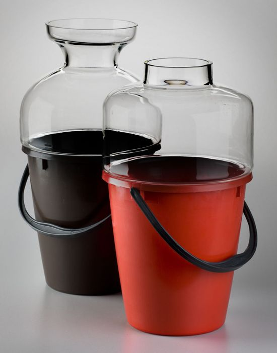 jakub berdych: bucket vase  #qubus #glass #design