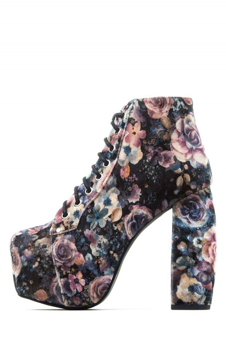 Jeffrey Campbell Shoes VALITA Shop All In Brown Floral Velvet
